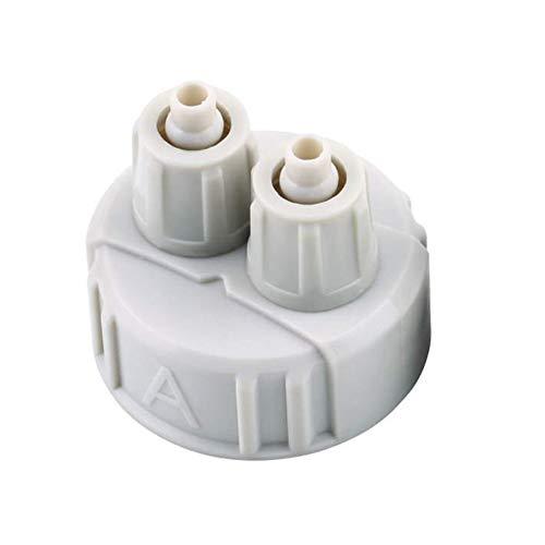 N / E Home DIY ABS CO2 Sistema Kit Generador Parte Tapa de Botella con Tubos para Acuario Plantado A/B Interfaz Portátil Peso Ligero Accesorios para el Hogar