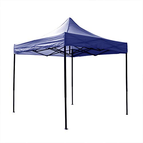AIRWAVE Gazebo Four Seasons Essential Pop Up with No Sides Waterproof 3 x 3m (Blue)