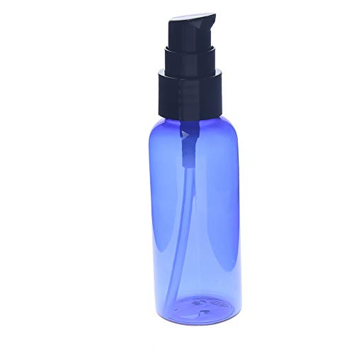 Hot Koop 50ML Make-up hervulbare flessen Lotion Cream Leeg Spray Pump Bottle makkelijk te gebruiken met Cap Parfum Container reisaccessoires (Color : Blue)