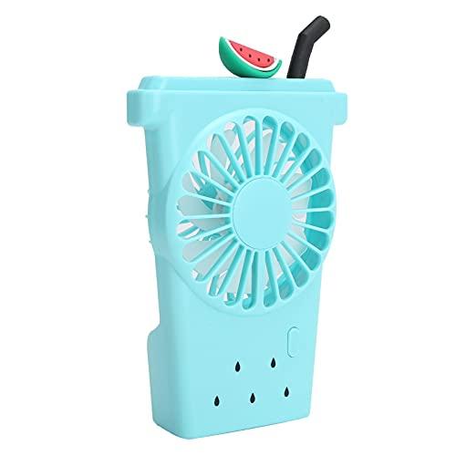 Mini ventilador de mano, ventilador de bolsillo pequeño recargable USB portátil, ventilador a batería con 3 velocidades, ventilador personal pequeño para el hogar(Azul)