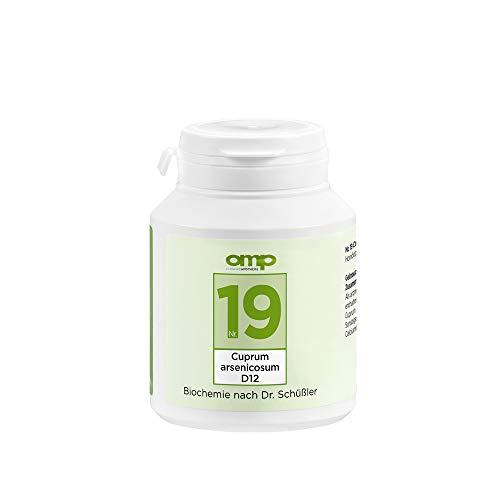 Schüssler Salz Nr.19 Cuprum arsenicosum D12 | 400 Tabletten | Das Salz des Nervensystems | glutenfrei