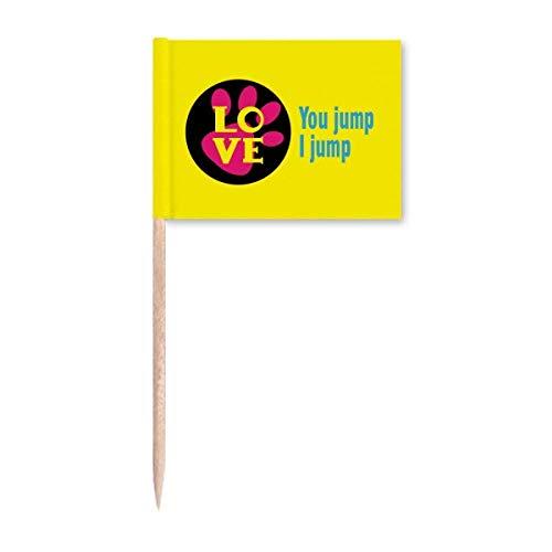 You Jump I Jump Titanic Art Deco Geschenk Mode Zahnstocher Flags Marker Topper Party Dekoration