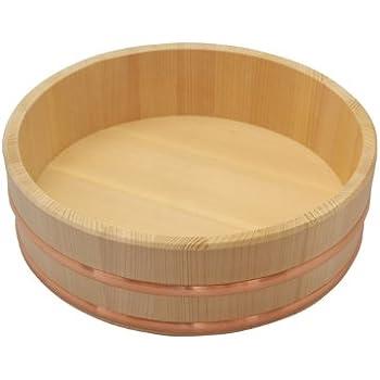 木曽の桶屋 木曽さわらの寿司桶1尺 3合用 飯切 飯台 30cm