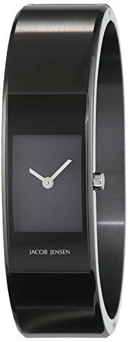 JACOB JENSEN Damen Analog Quarz Uhr mit Edelstahl Armband Eclipse Item NO. 463