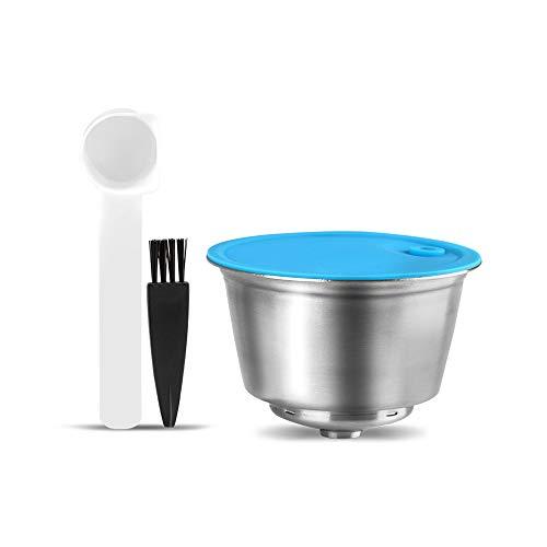 para Dolce Gusto cápsulas reutilizables, cápsulas de café Dolce Gusto de acero inoxidable, cápsulas de repuesto para Dolce Gusto, con 1 cuchara de café y 1 cepillo de limpieza (capsule)