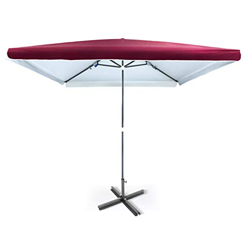 ZJDMF Garden Parasol Umbrella Outdoor Sun Shade Beach Parasol Encrypted Oxford Cloth and Silver Glue Coating For Balcony and Patio Size 2.3M*3.2M, 7.5 * 10.4FT