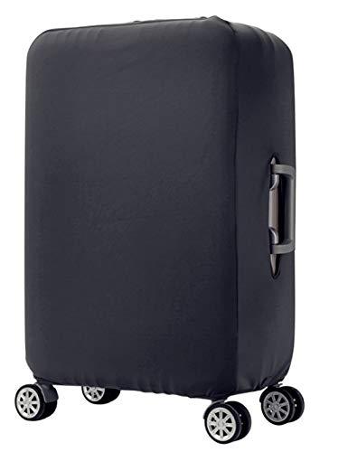 スーツケースカバー 伸縮素材 無地 グレー キャリーバッグ カバー トランクカバー 耐久性 お荷物カバー 防塵カバー 人気 おしゃれ かわいい S M L XL/Z748 (M, グレー無地)