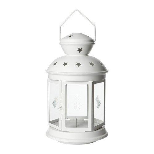 Ikea ROTERA - Farol para vela de bloque, blanco 38cm