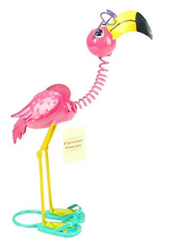 Christmas Concepts® 39cm (15'') Stehendes Metall Pink Flamingo mit Brille - Indoor/Outdoor Garden Dekorationen