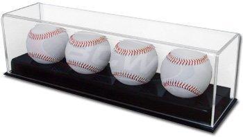 BCW 1-AD12-4 Acrylic Four Baseball Display