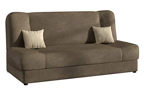 Schlafsofa Jonas Premium, Bettsofa Sofa mit Bettkasten und Schlaffunktion Materialmix Dauerschläfer-Sofa Couch vom Hersteller Schlafcouch Wohnlandschaft (Bizon 2113 + Bizon 2112)