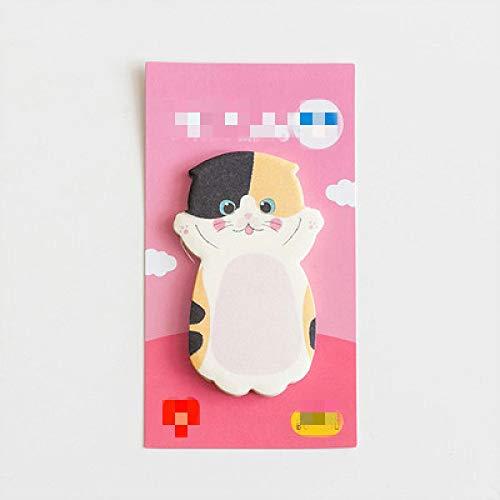 Hojas de dibujos animados gato notas adhesivas post Bloc de notas Bloc de notas kawaii papelería oficina material escolar accesorios G