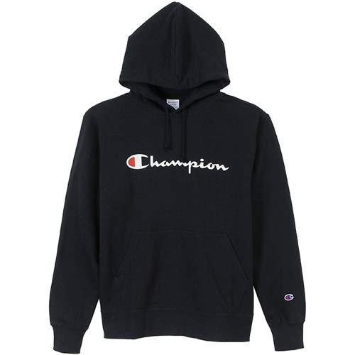 [チャンピオン] (旧モデル) パーカー スウェット 裏毛 定番 スクリプトロゴ フーデッドスウェットシャツ C3-J117 メンズ ネイビー L