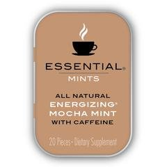 VitaThinQ, Essential Mints, Energizing Mocha Peppermints with Caffeine All Natural, Gluten Free, HFCS Free, Non GMO, Vegan, Energy Supplements, Eighty Mints