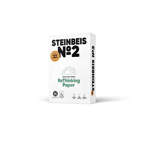 Steinbeis No. 2 ReThinkingPaper Kopier-Papier – DIN A4 Recycling-Papier 80 g/m², Drucker-Papier ISO 80 / CIE 85, Weiß, 5 x 500 Blatt, C1501666080A