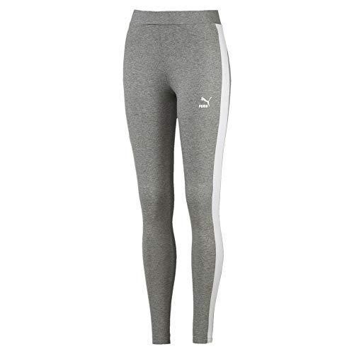 PUMA Erwachsene Classics Logo T7 Legging Hose, Medium Gray Heather, XL