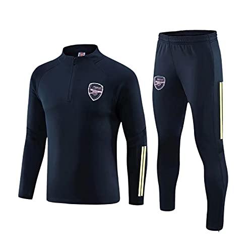 CBVB Jersey de fútbol Arsenal para Adultos, Juego de fútbol, Fans Jersey, Deportes Casual Sudadera Chaqueta Pantalones Juego de Traje blue-3XL