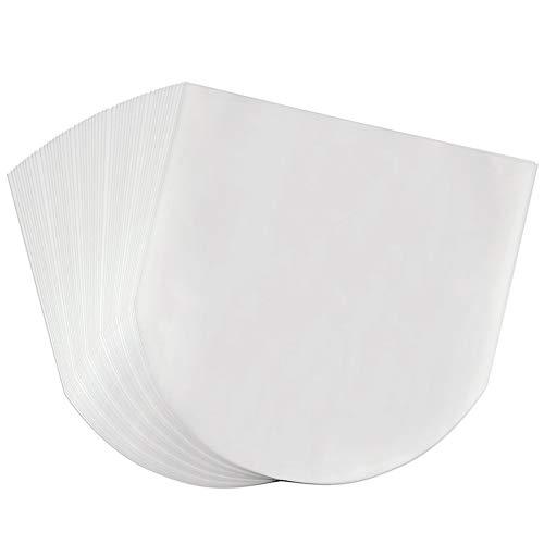 Schallplattenhüllen, 100 Stück, halbdurchsichtige Schallplatten-Innenhüllen, langlebig, antistatisch mit abger&eten Ecken zum Schutz der Sammlung, 30,5cm große Schallplatten-Innenhüllen