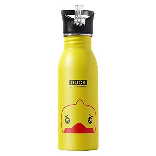 dewdropy - Botella de Agua para Deportes de Acero Inoxidable para niños, Estilo Americano