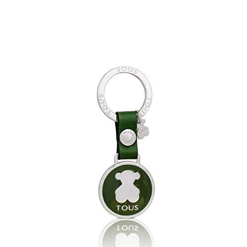 Tous Llavero Circle Bear Plate en color verde 495970257
