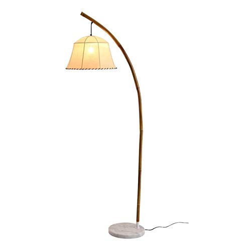 Lámpara de pie Lámpara de pie for sala de estar de bambú tejido Lámpara de LED Lámpara de pie con lámpara retro clásico Sombras Arco Lámpara de lectura for el dormitorio, oficina, sala de estudio lámp
