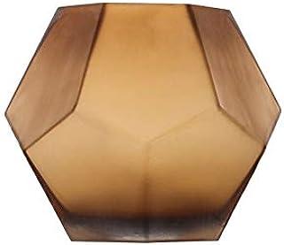 Vases for Wedding Tables, Irregular Rounded Glass Vase | Vases for Flowers | Large Glass Vase | Room Decor (Color : Brown)