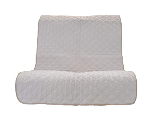 UK Care Direct matelassé Meubles Protection en Naturel Crème – Disponible en Chaise, canapé 2 et 3 Places, Bras de caches et Une Paire de Coussin, 2 Seater Sofa