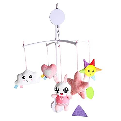 Pisamhid Baby Crib - Cuna móvil con sonajero, móvil de música para escuchar y sorprender