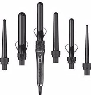 XARA 6 IN 1 CURLING IRON SET Professional ceramic ionic technology w/ Spring and Wand option (6in1)