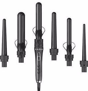 XARA 6 IN 1 CURLING IRON SET Professional ceramic ionic technology w/ Spring and Wand option...