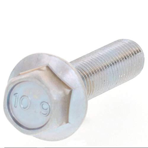 10.9フランジボルト2種型 M10P=1.25 細目ピッチ 三価ホワイトメッキ (M10(P=1.25)X25L, 1本パック)