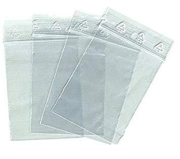 Lot 100 sachets à fermeture zip format 70x100 mm (7x10 cm) pochettes qualité alimentaire, prélèvement, aux normes européennes de production plastique - 50 microns
