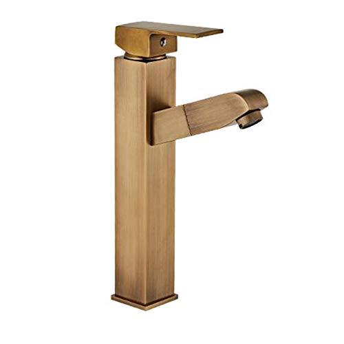 Hancoc Grifo para garrafas Antiguo Cuarteto aumentando Agujero de la Pila Grifo extraíble baño Lavabo Inodoro Caliente y fría grifos
