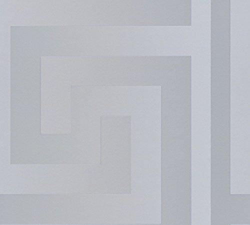 Versace papel pintado para pared - Material: material vinilo sobre-tejido - Color: Plateado - artículo no, 1504-2830
