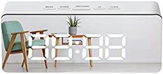 Multi-function mirror digital clock LED mirror clock cosmetic mirror alarm clock electronic clock male and female alarm clock lazy clock
