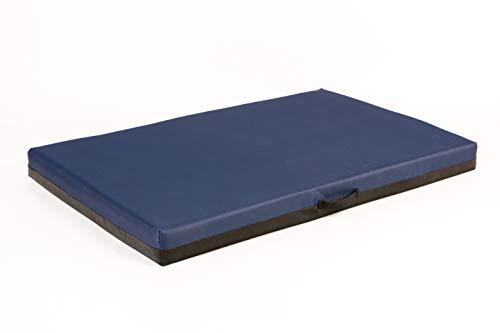 COOL PET Hochwertige VISCO Hundebett,120 * 80cm hat echt 10cm hohe Memory Foam-Viscoschaum, Bezug aus Oxford 600D Textilie mit PVC-Anstrich, Größe 4XL und Farbe dunkel blau