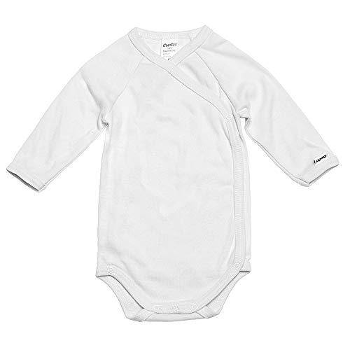 Ewers Baby Body Wickel-Body Langarm-Body weiss für Mädchen und Jungen 100% Baumwolle