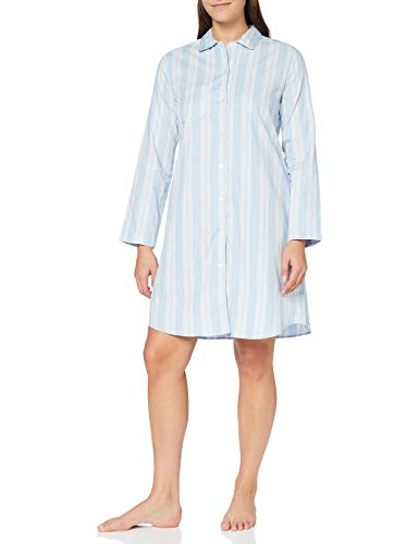 Seidensticker Damen Women Sleepshirt, Long Sleeve Nachthemd, hellblau, 038