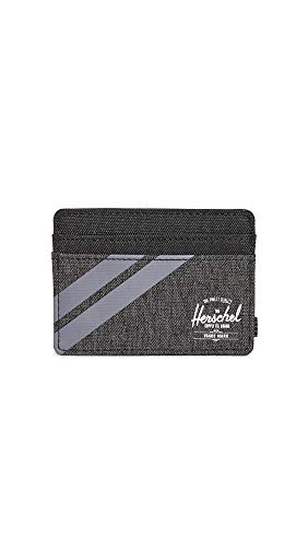 Herschel Supply Co. Men's Charlie RFID Wallet, Blk Crosshatch/Grey/Periscope, One Size