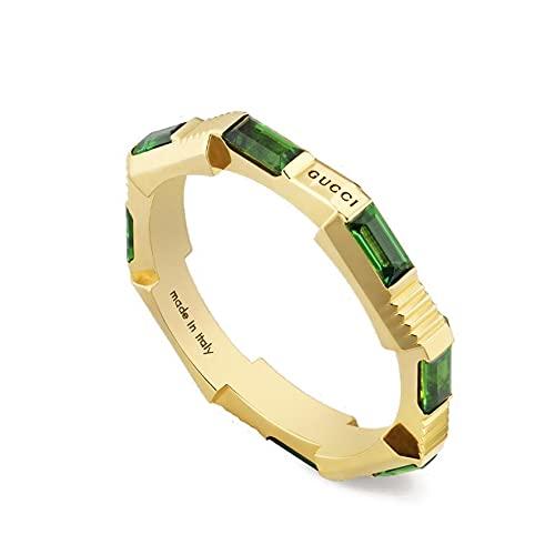 Gucci Link to Love Anillo con turmalinas de oro amarillo YBC662256002014