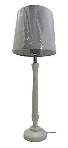 IMPRESSIONEN living 8340285 Tischleuchte, klassisch weiß Nachttischlampe Lampe