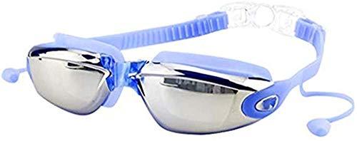 MaoDaAiMaoYi Schwimmbrille Wasserdicht Unisex Erwachsene-Schwimmbrille Verspiegelte Taucherbrille Mode Living Mit Antibeschlag Taucherbrille Mit Wasserdichter Für Herren Frauen Mit Ohrstöpsel Nasenkla