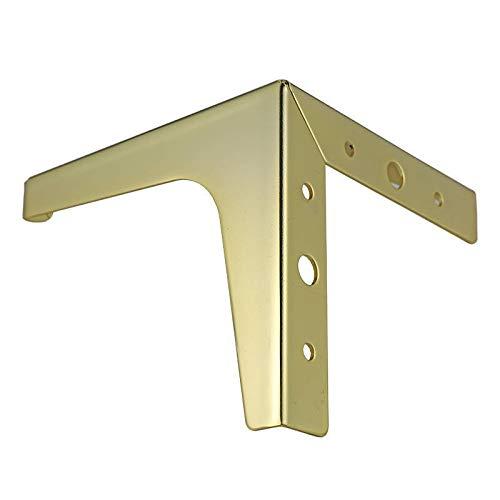 MNZDDDP 4 Unids Mobiliario De Metal Piernas Armario Cuadrado Sofá Sofá Soporte Pie De Oro para Cama Riser Metal Mesa Piernas Muebles Accesorios (Color : 100mm)