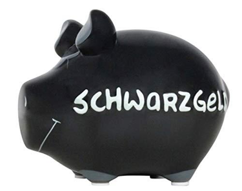 G.W. Tolles Keramik Sparschwein für die unterschiedlichsten Anlässe, Modell SCHWARZGELD, jedes in Seiner Art EIN Unikat, schöne Maße von 13 x 9 x9 cm, Farbe schwarz