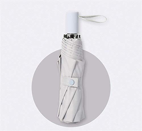 YNHNI Paraguas, Elegante y Simple Paraguas, Paraguas Plegable sólido, Paraguas de Verano, sombrilla de Goma, Paraguas de Regalo,Portátil (Color : Grey)
