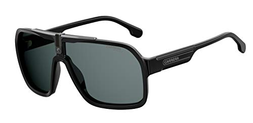 Carrera Men's 1014/S Shield Sunglasses, Matte Black/Gray, 64mm, 10mm