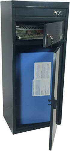 SafePost 65- Paketbriefkasten – anthrazitgrau – mit Paketfach – Standbriefkasten – Briefkasten - 3