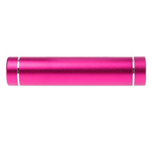 AERVEAL Cable de Datos, 18650 batería DIY Power Bank Box con Linterna LED Cargador USB para teléfono Inteligente-Rosa Fuerte
