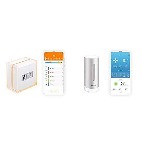 Netatmo Thermostat Connecté et Intelligent pour chaudière individuelle, NTH01-FR-EC & Module Additionnel Intérieur pour la Station Météo Netatmo, NIM01-WW