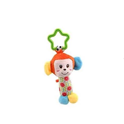 Naughty baby 1 Pcs New Classic Toys Bébé Enfant Hochet Anneaux Mobiles Vent Animaux Nouveau-Né Bébé Poussette Double Pendaison Des Jouets En Peluche,B